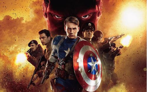 adesivo de parede - filmes - capitão américa_001