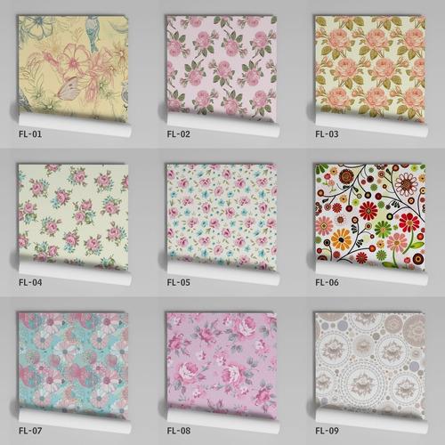 adesivo de parede floral antigo pétalas fl-17 - 19 unidades