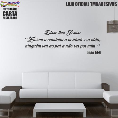 adesivo de parede frases bíblicas joão 14:6 130cm d004