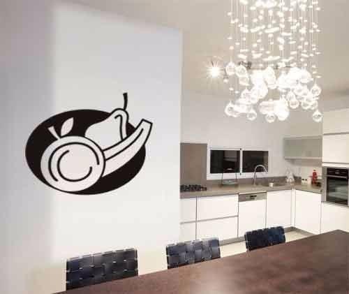 adesivo de parede frutas cozinha arranjo exclusivo 55x60 cm