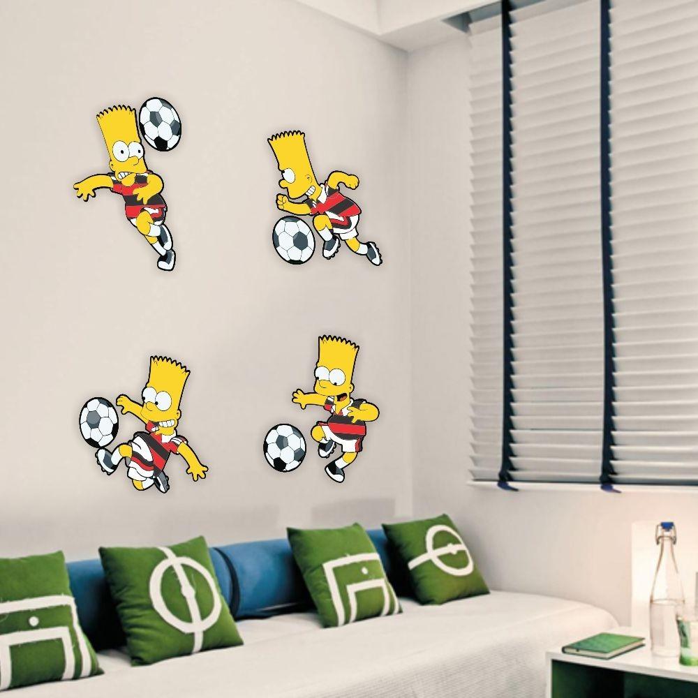 Whal Aparador De Pelos ~ Adesivo De Parede Futebol Bart Simpson Flamengo Simpsons R$ 59,00 em Mercado Livre
