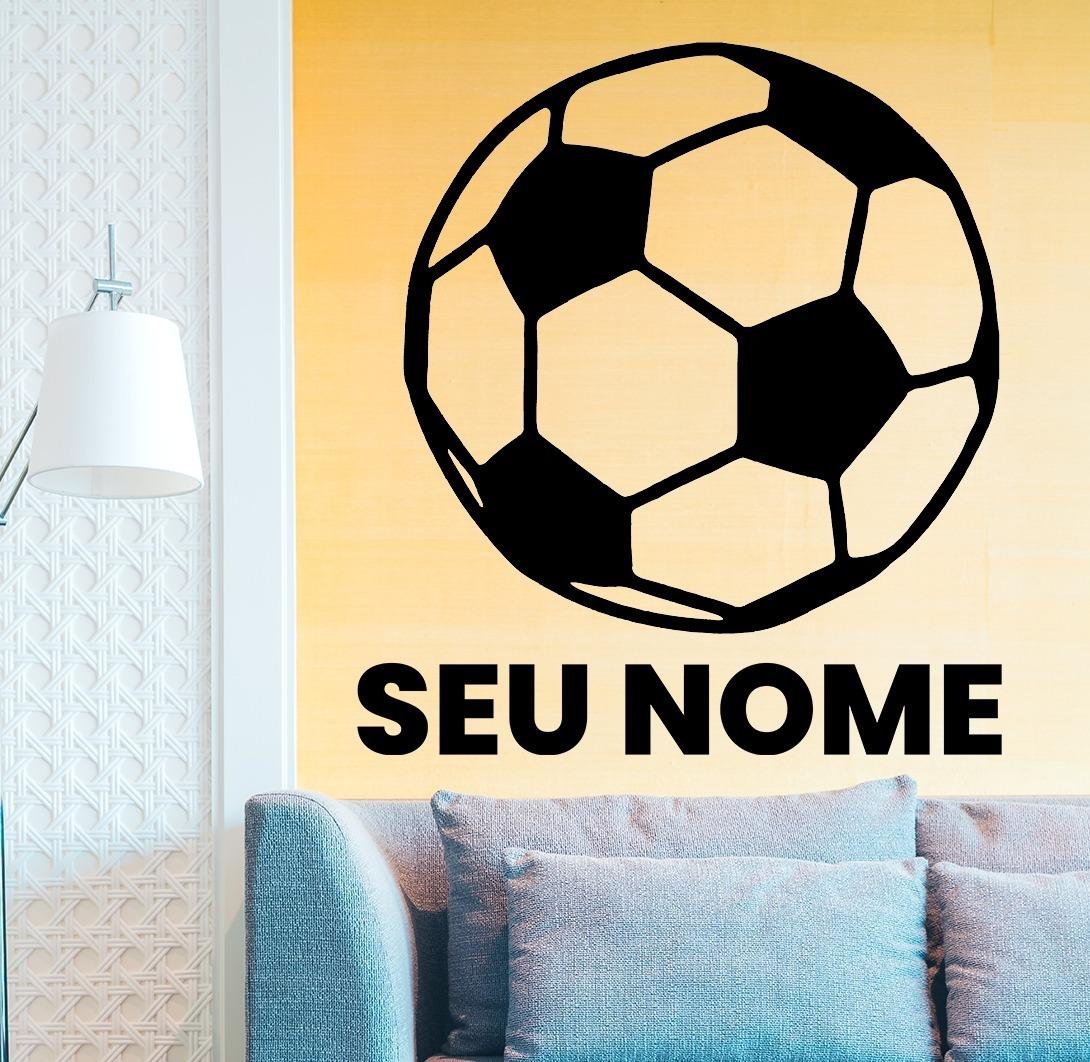 3e51ac8fd Adesivo De Parede - Futebol Esporte Bola Personalizado - R  50