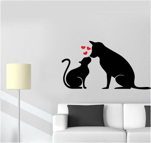 adesivo de parede gato coração veterinário animal cachorro