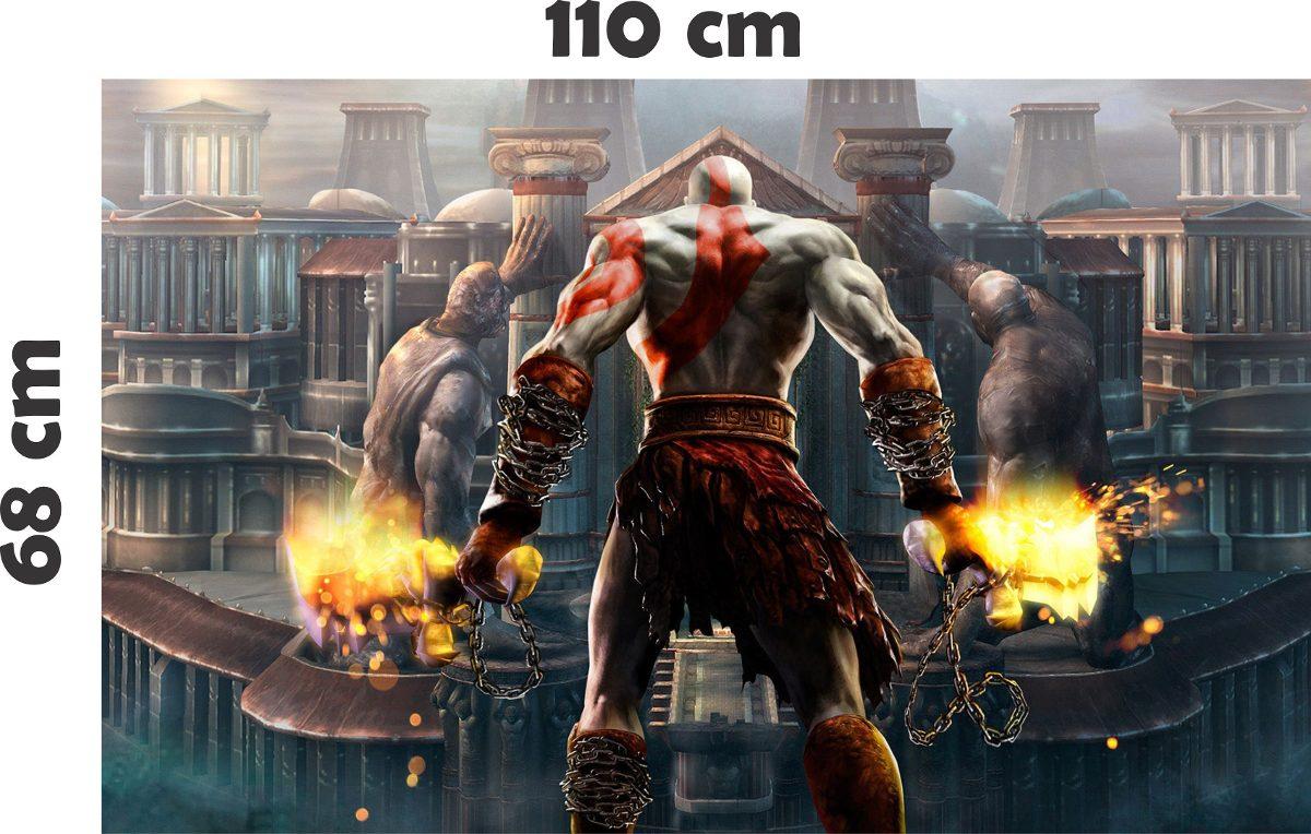 Mueble Aparador Gris Ceniza ~ Adesivo De Parede Geek Jogo Game God Of War Deus Da Guerra R$ 49,99 em Mercado Livre