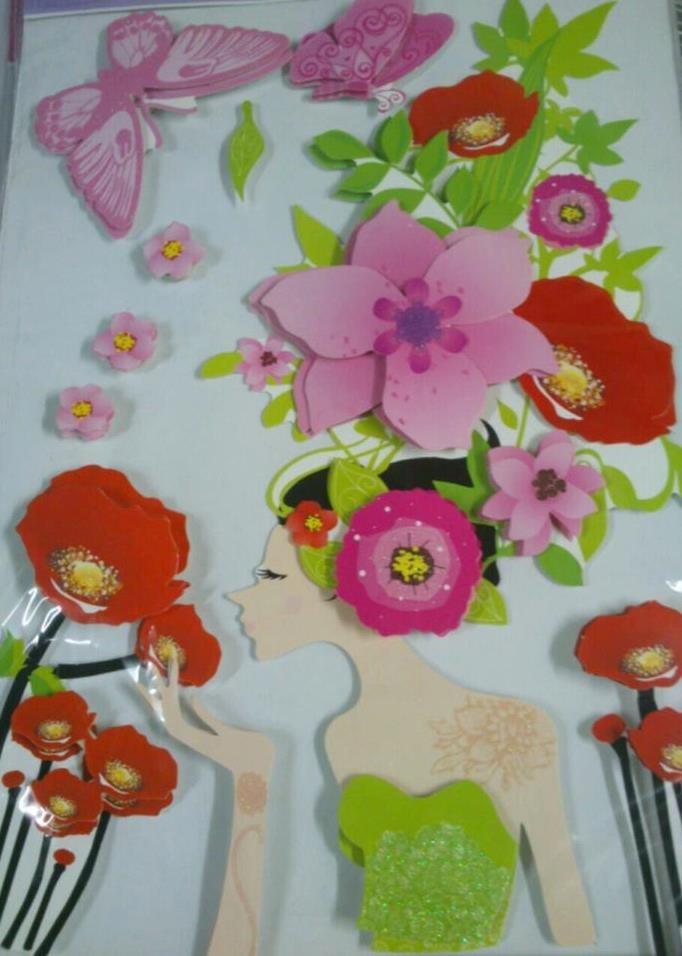 Artesanato Sergipano ~ Adesivo De Parede Grande 3d Com Glitter Stickers R$ 10
