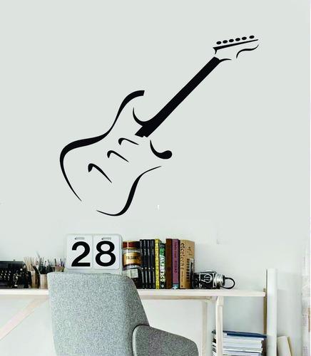 adesivo de parede guitarra música