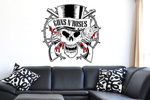 adesivo de parede guns n roses - mudo minha casa