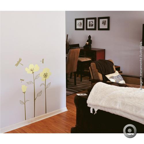 adesivo de parede haus for fun flor hibiscos 2_m 70x50 cm