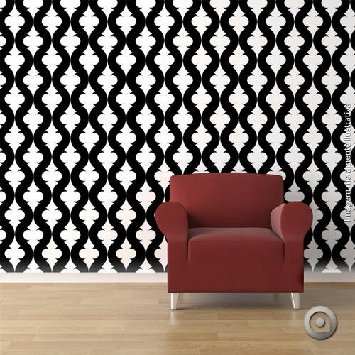 adesivo de parede haus for fun geometrics 07_u-preto 250x50