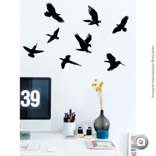 adesivo de parede haus for fun pássaros_p 40x25 cm