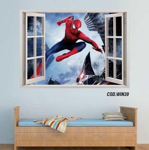 adesivo de parede homem aranha spider 3d 3 artes (cod.win39)