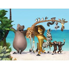 Adesivo De Parede Infantil - Madagascar Com Impressão Látex