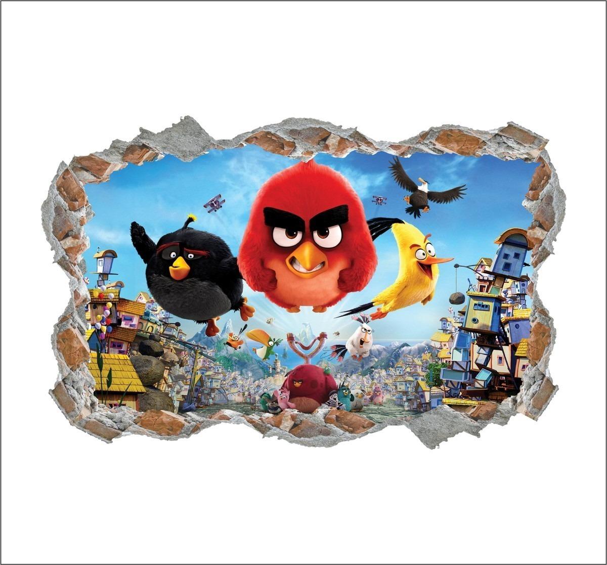 Adesivo De Parede Infantil Angry Birds Filme Passaros R 65 50