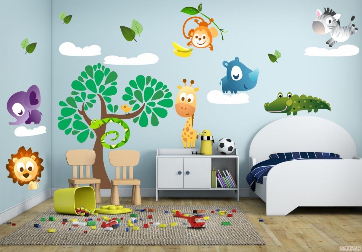 8a271a251 adesivo de parede infantil árvore e bichinhos. Carregando zoom.