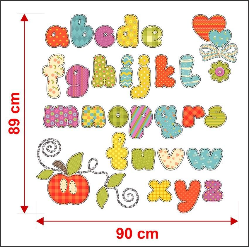 Adesivo De Letras ~ Adesivo De Parede Infantil Letras Alfabeto Will0018 R$ 96,99 em Mercado Livre