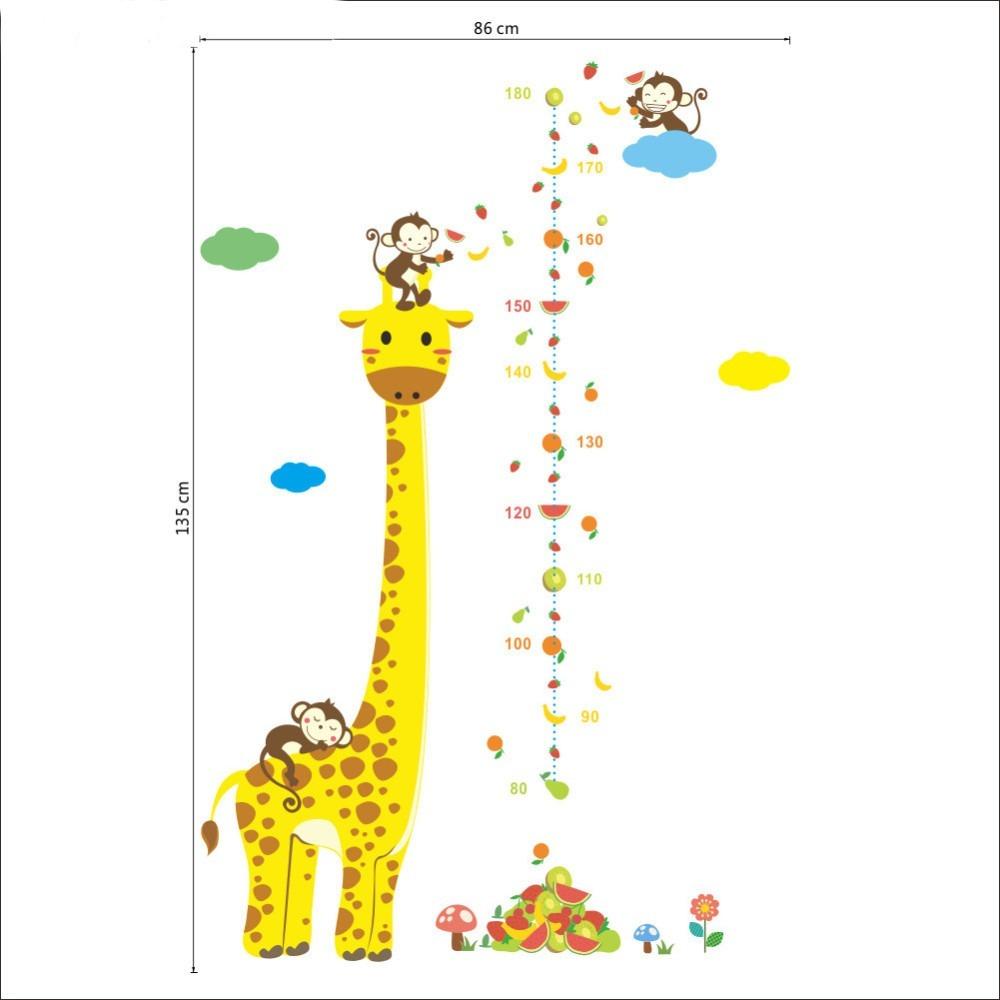 9d77c2d41 adesivo de parede infantil régua de crescimento girafa. Carregando zoom.