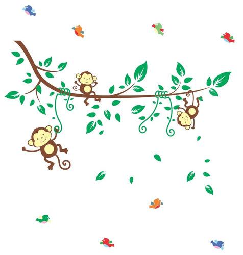 adesivo de parede infantil zoo safari bichinhos coruja
