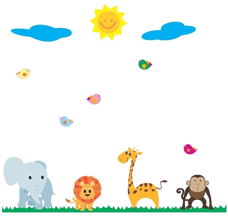 Armario Suspenso Lavanderia ~ Adesivo De Parede Infantil Zoo Safari Bichinhos Coruja R