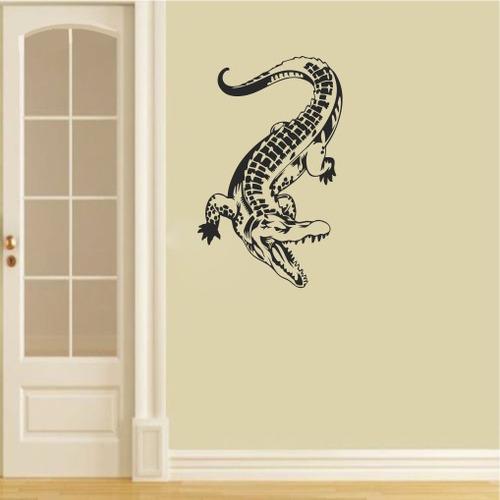 adesivo de parede jacaré crocodilo animais répteis 80cm a603