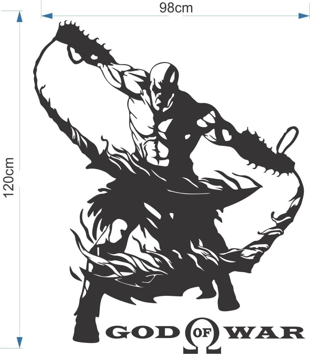 Mueble Aparador Gris Ceniza ~ Adesivo De Parede Kratos God Of War 120cmx98cm Frete Grátis R$ 94,89 em Mercado Livre