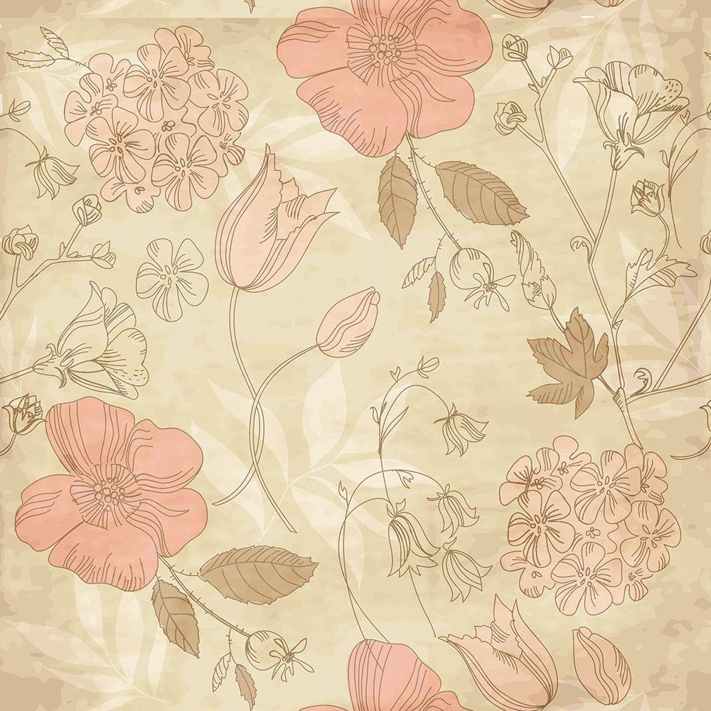Loja Artesanato Zona Sul ~ Adesivo De Parede Lavável Floral Delicado Eleg u00e2ncia R$ 59,00 em Mercado Livre