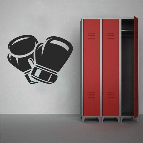 adesivo de parede luva boxe arte marcial academia 100x75cm