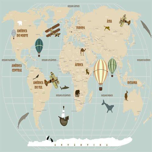 Adesivo De Parede Mapa Mundi Mercado Livre ~ Adesivo De Parede Mapa Mundi Compre Por M u00b2 R$ 80,00 em