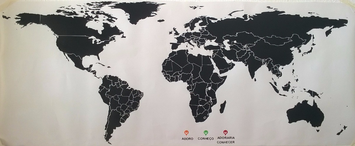 El Armario Nequi ~ Adesivo De Parede Mapa Mundi Gigante 2m X 1m Diversas Cores R$ 198,64 em Mercado Livre