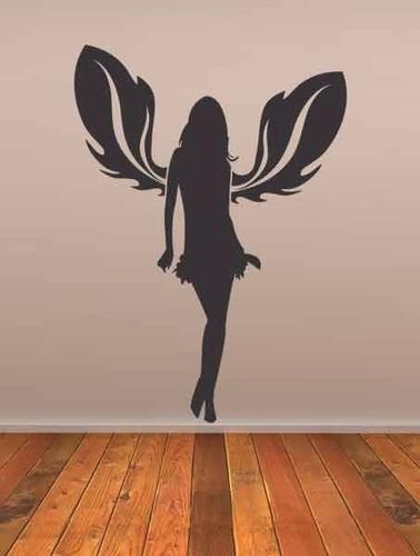 adesivo de parede menina fada asas  anjo 75 cm x 1 metro