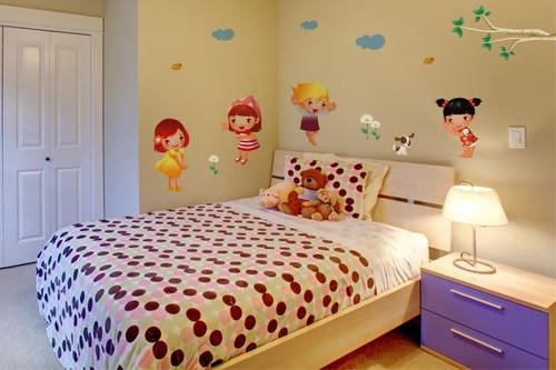 adesivo de parede menininhas - mudo minha casa