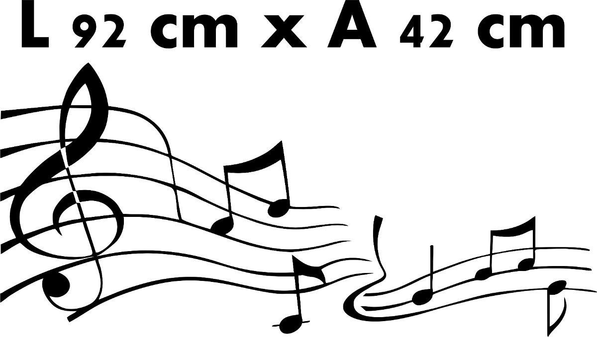Adesivo De Parede Musica Notas Musicais Musical Rock Violao R