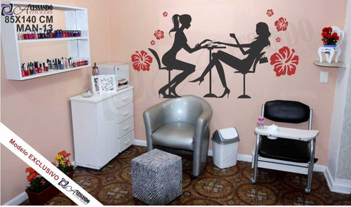 adesivo de parede para manicure cliente vip grande + oferta