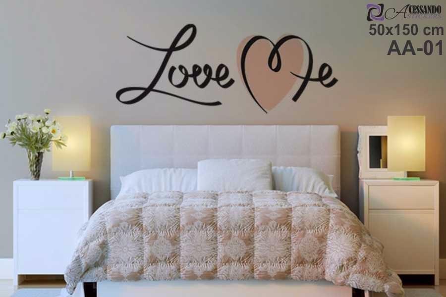Adesivo De Parede Para Quarto Casal  Love Me  Romantico  R$ 120,38 em Merc