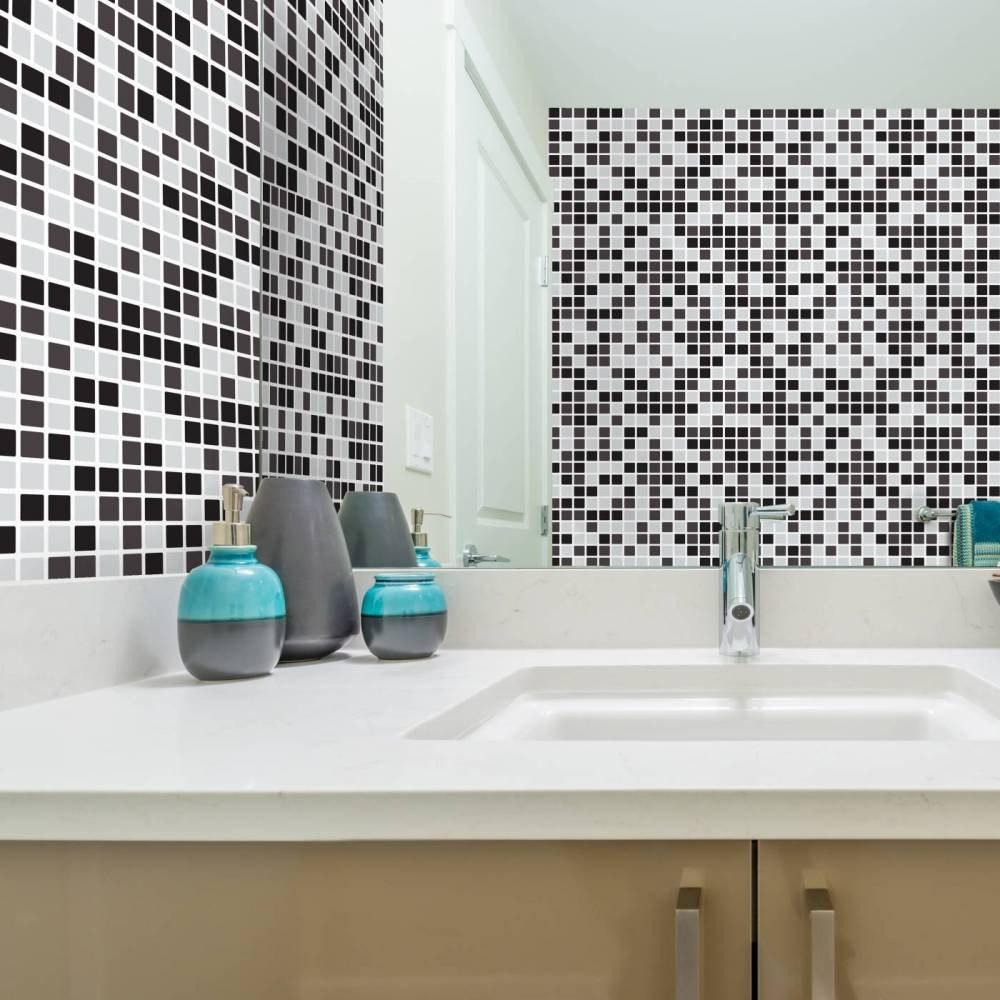 Loja Artesanato Zona Sul ~ Adesivo De Parede Pastilha Lavável Cozinha Banheiro 5 Met R$ 92,49 em Mercado Livre