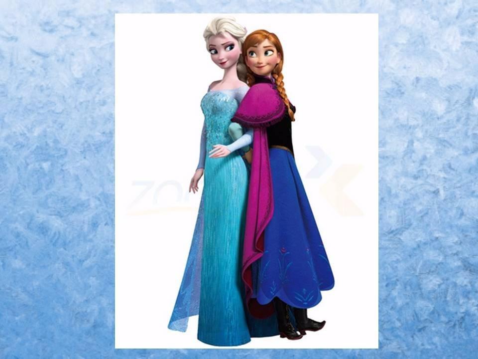 Aparador Moderno Branco ~ Adesivo De Parede Princesa Elsa E Ana Frozen Disney