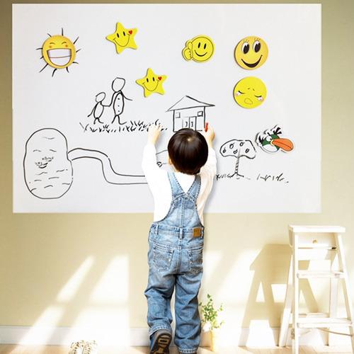 adesivo de parede quadro branco lousa 200 x 50