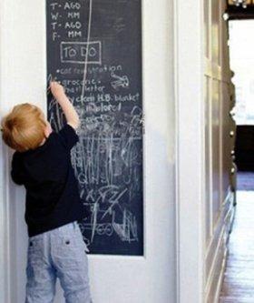 adesivo de parede quadro negro para quarto 300 x 60cm