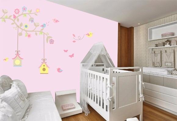 Adesivo De Parede Quarto Bebe Infantil Galho Casa  ~ Adesivos De Parede Para Quarto De Bebe Feminino