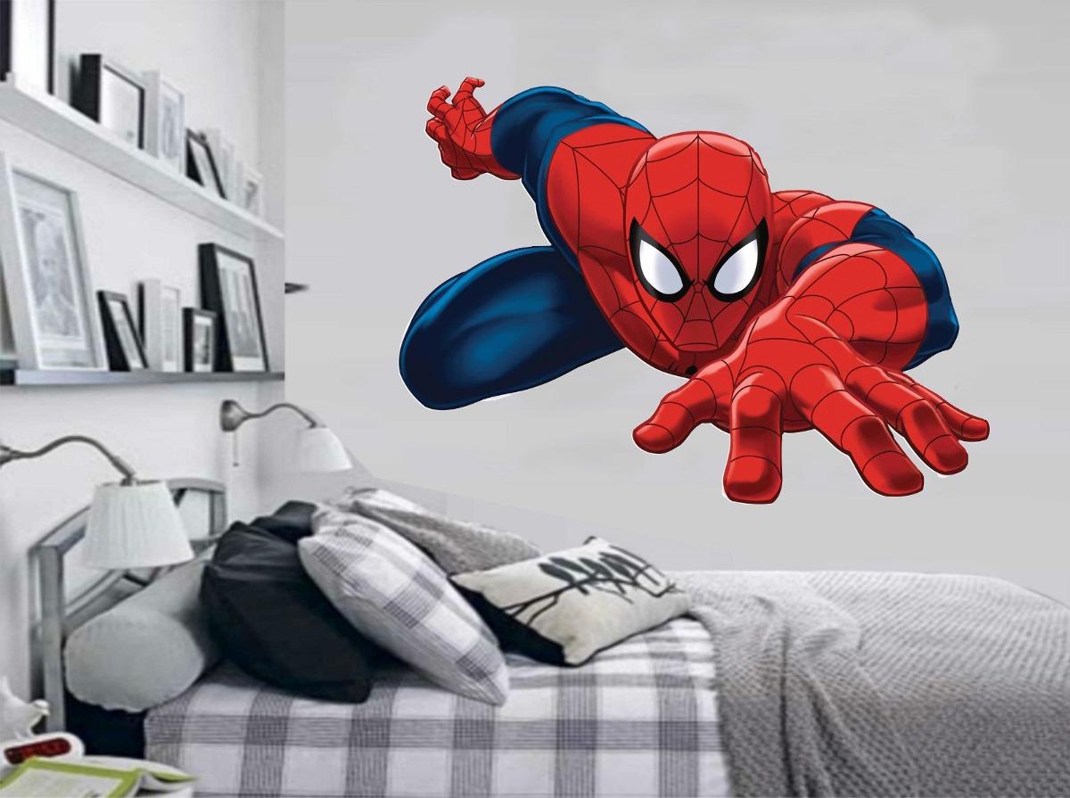 Aparador Redondo Para Sala ~ Adesivo De Parede Quarto Infantil Super Herói Homem Aranha R$ 49,99 em Mercado Livre
