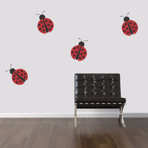 adesivo de parede quarto kit joaninha animal árvore