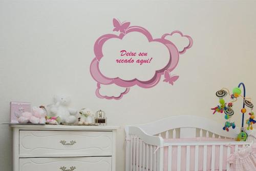 adesivo de parede recados da bebê - mudo minha casa