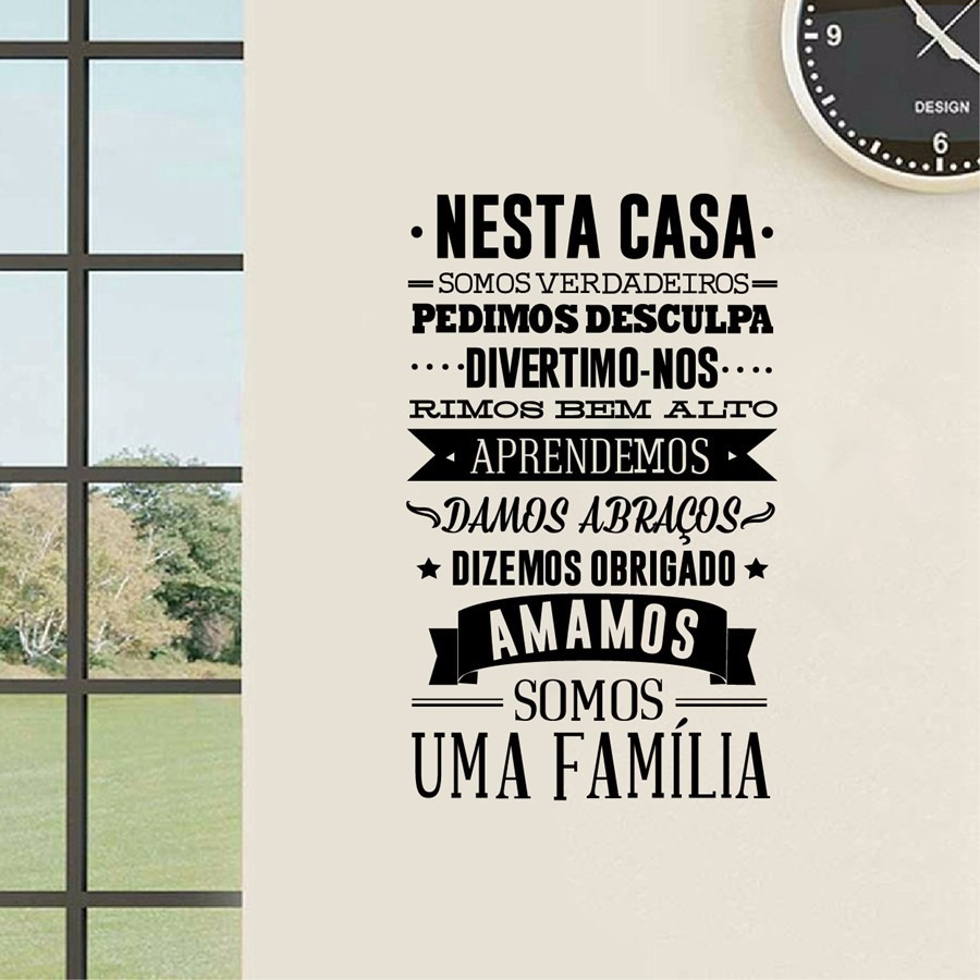 Adesivos Decorativos De Parede Mandalas ~ Adesivo De Parede Regras Da Casa Família Feliz Frases Sala! R$ 52,64 em Mercado Livre