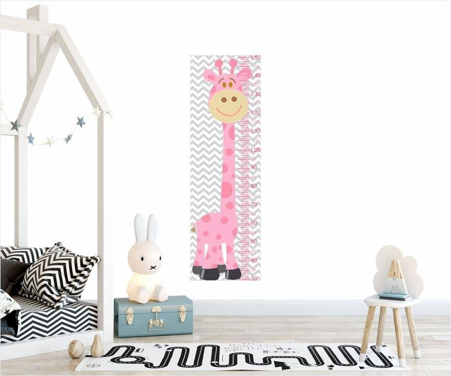 a6a3ba80b adesivo de parede régua do crescimento girafa rosa decoração. Carregando  zoom.