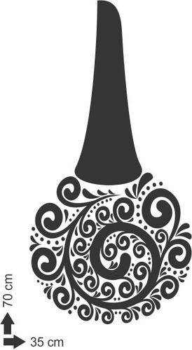 adesivo de parede salão beleza cabeleireiros esmalte 70x35cm