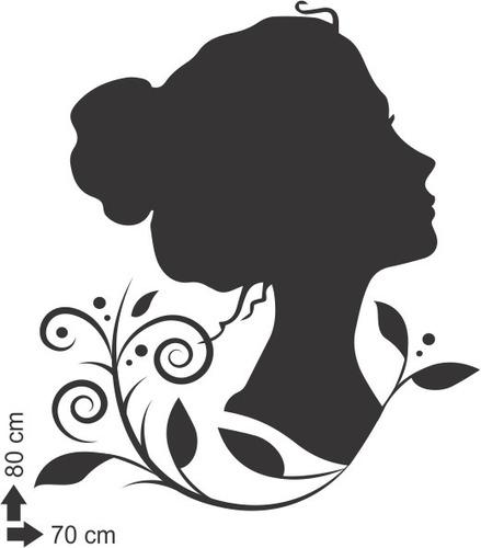 adesivo de parede salão beleza quarto menina mulher folha