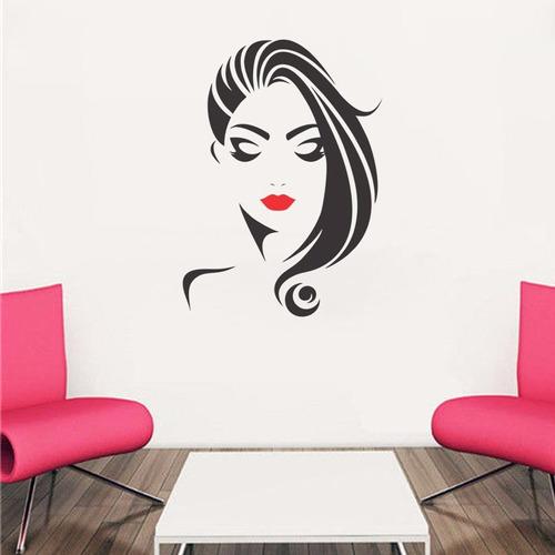 adesivo de parede salão de beleza cabeleireiros 65x90 cm