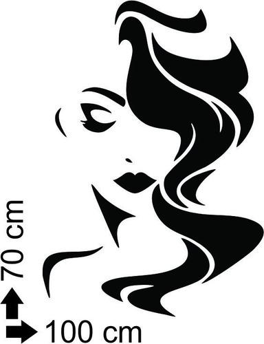 adesivo de parede salão de beleza cabeleireiros maquiagem