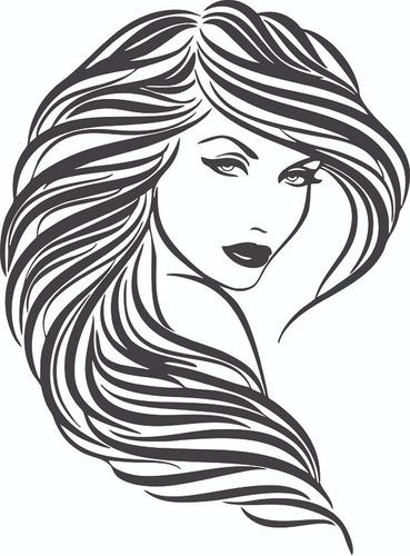 adesivo de parede salão de beleza cabeleireiros penteados
