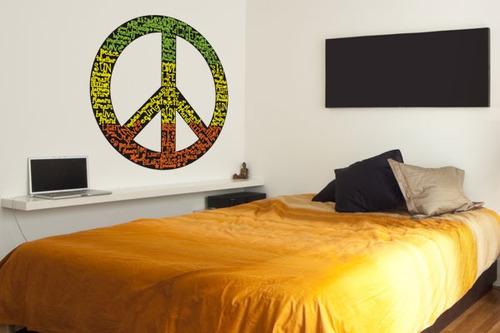 adesivo de parede simbolo da paz - mudo minha casa