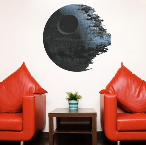 adesivo de parede star wars estrela da morte entrega rápida
